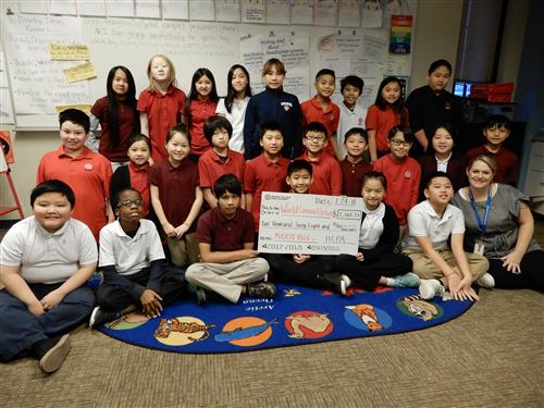 Ms. Mercil's class raised the most money out of all K-12 CP classrooms!